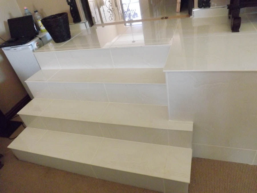 Specialising In Architectural Designed Porcelain Bullnose Staircases.